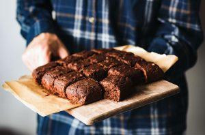 Healthy beetroot brownie